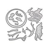 Healifty Plantilla de Plantilla de grabación en Relieve para álbum Scrapbooking Tarjeta de Papel Arte Arte Decoración (Beautiful Angel)