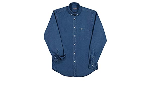 PAUL & SHARK COP3002-013 Camisa Denim Button Down con bolsillo Regular Fit algodón azul Denim azul (blu denim) 41: Amazon.es: Ropa y accesorios