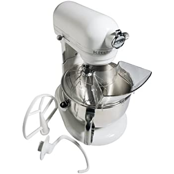 KitchenAid KT2651X Epicurean 475 Watt 6 Quart Stand Mixer, White