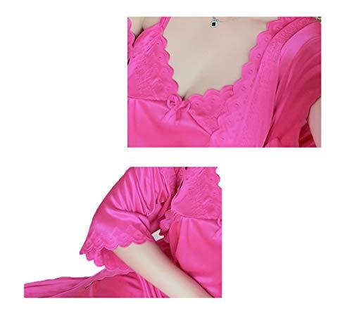 Moda Cmbyn Chiffon Vestiti Rosso Notte Pezzi Sexy Accappatoi Frange Due Da Domestici Classica Pigiami Donna Estive Sexy Camicia vZqrvw