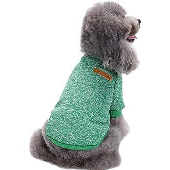 Amazon.com: Mascota Perro Clásico Knitwear Jersey Cálido ...