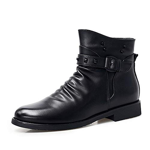 Casual All'usura Boot Moda Resistere Personalità Alla High Dimensione Durevole; Bnd Da color Di Stivaletti Nero Rivetto Nero 44 Fleece Faux Eu Uomo Top shoes Inside Winter aqwUHtY