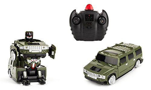 Wall-Climbing Fast Electric RC Toys Autobots Green Transformable Robot Cars + Remote Control - The Perfect Gift For Kids! Drives On The Wall, Ceiling and (Spiderman New Costume Big Time)