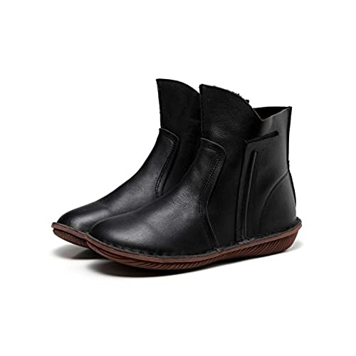 72cb683f2a2b new Women S Handmade Leather Short Boot For Winter Martens Boots Low Heel  Comfortable Walking Brown