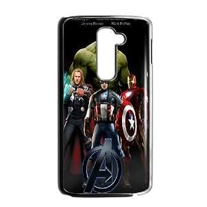 LG G2 Phone Case Black The Avengers Logo BFG573599