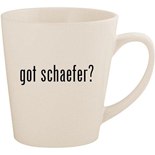 got schaefer? - White 12oz Ceramic Latte Mug Cup