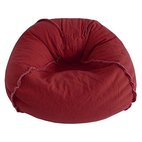 Ace Casual Furniture Large Canvas Bean Bag Chair with Exposed Seams (Ace Canvas)