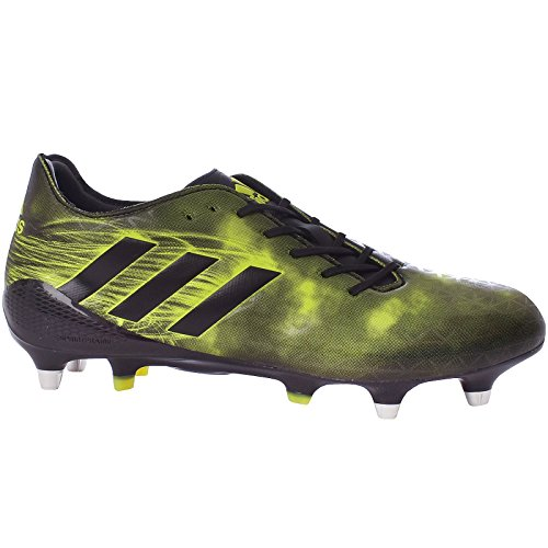 (adidas Performance Mens Crazyquick Malice Soft Ground Rugby Boots Shoes - 9US Black)