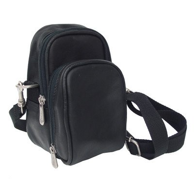 Piel Leather Camera Bag - Leather Camera Bag w Padded Compartment in Saddle