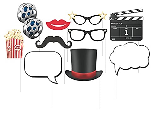 Hollywood Usa Costumes - 10 Assorted Photo Booth Props, Hollywood