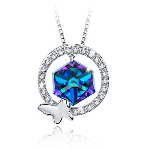 Tojean Birthday Gifts True Love Necklace Women Jewelry Pendant Made with Swarovski Crystal, Christmas Day Gifts for Mom