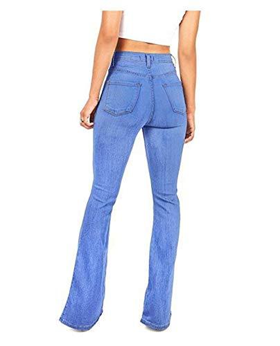 Jeans Classique Blue3 Bas Wowulgar Bell Size M Femme Haute Blue1 Taille Color Ajust Jeans d4qSwB