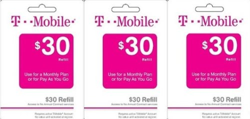 Amazon com: T-mobile $90 Prepaid Refill Card Monthly Plan