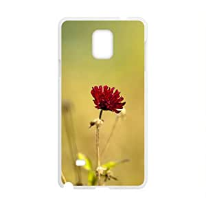 Cute Flower White Phone Case for Samsung Galaxy Note4