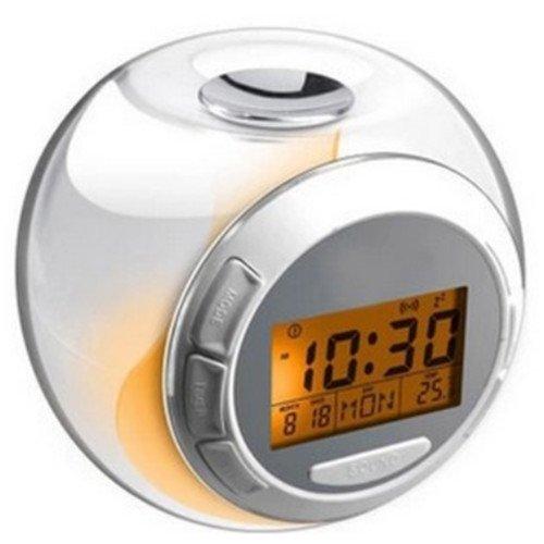 DICOCO Natural Sound Alarm Clock 7 Color Charming LED Light (Bird Sound Alarm Clock)
