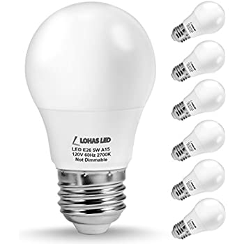 lohas a15 led bulb 5w40w equivalent medium base e26 led light