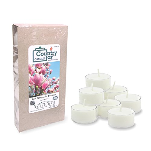 (Country Jar Pink Magnolia Blossom Tea Light Candles, (8-Pack/.75 oz. ea.) 100% Natural Soy (3 OR More Sale!))
