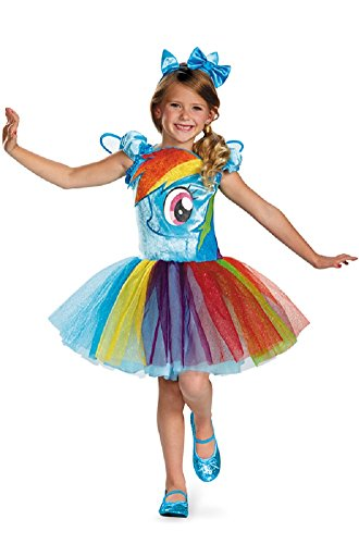 Disguise My Little Pony Rainbow Dash Costume Deluxe (Medium 7, 8 (Rainbow Dash Costume Toddler)