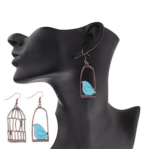 CHUYUN Alloy Hiphop Bijoux Fashion Metal Drop Earring for Women Trendy Jewelry Bird Cage Vintage Asymmetric Earrings