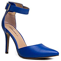 Women's Pointed Toe Ankle Strap High Heel Stiletto Pumps Shoes
