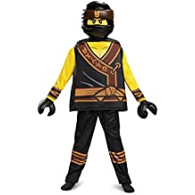 Cole LEGO Ninjago Movie Deluxe Costume, Yellow/Black, Medium (7-8)