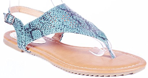 Victoria K Women Beach Sandals Open Toes Green Flats Thongs, (Xcite Green)