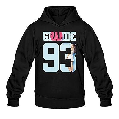 YQUE Men's Ariana Singer Grande Cute Cartoon Poster Hoodies Sweatshirt Black