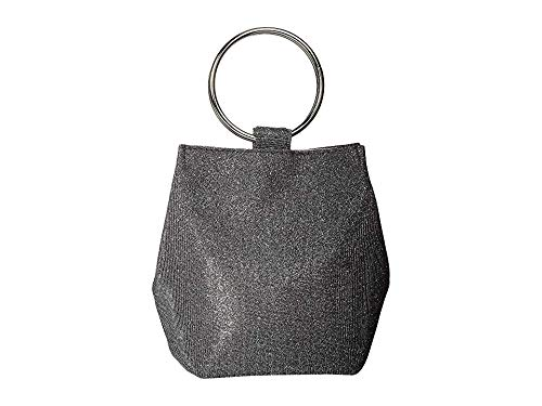 Jessica McClintock Gwen Sparkle & Shine Ring Pouch Clutch, pewter
