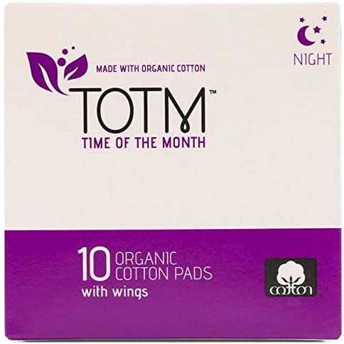 Totm Organic Cotton Night Pads 10 per Pack