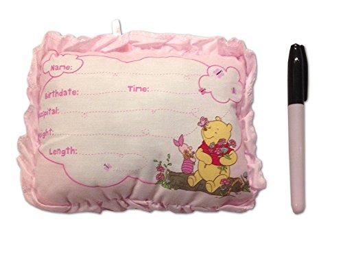 disney s winnie the pooh birth announcement door pillow w pen pink