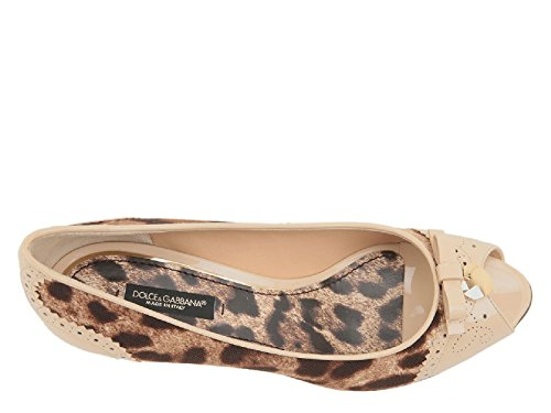 Open A9247 Number Gabbana Model and Dolce Pumps Fabric amp; 8C087 in Beige Beige Leather Toe C15224 PCqUEOw
