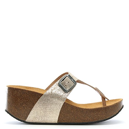 Gold Wedge Metallic Toe Daniel Sandals Leather peccavi Post Metalic Gold Rw6BwFqZx