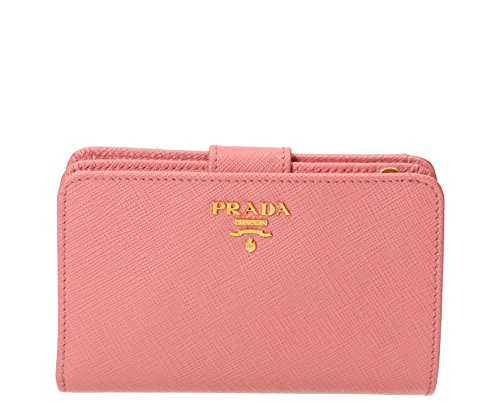 Prada Women's Saffiano Leather Wallet Pink by Prada