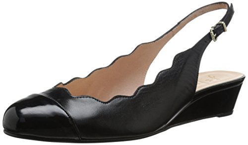 French Sole FS/NY Women's Millenium Wedge Pump - Black - ...