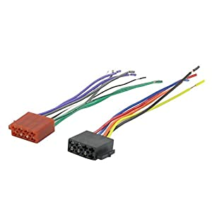 416WciF xNL._SY300_ amazon com male universal iso radio wire wiring harness adapter  at edmiracle.co