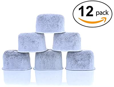 12-Pack KEURIG Compatible Water Filters by K&J - Universal Fit (NOT CUISINART) Keurig Compatible Filters - Replacement Charcoal Water Filters for Keurig 2.0 (and older) Coffee Machines from K&J Charcoal Filters
