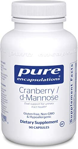 Pure Encapsulations – Cranberry D-Mannose – Hypoallergenic Supplement to Support Urinary Tract Health – 90 Capsules