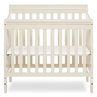 Dream On Me Aden 4-in-1 Convertible Mini Crib, French White