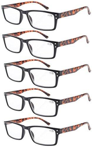 5-pack Cerniere a molla Vintage occhiali da lettura Include lettori di occhiali da sole +1.75 jU08SMcTo
