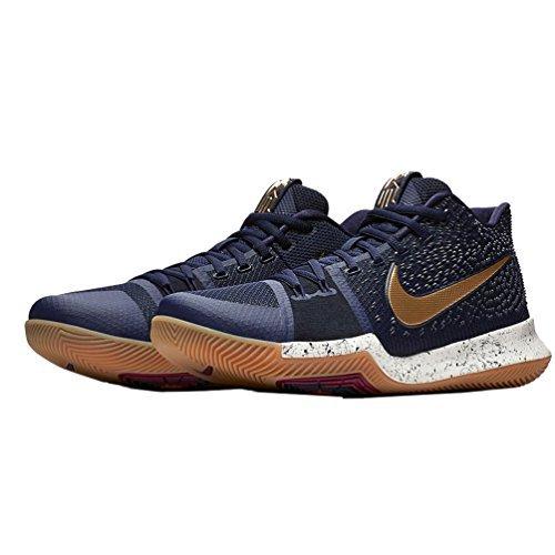 Nike Kyrie 3 Men's BasketBall Shoes Obidian/Metallic Gold/White 852395-400 (11 D(M) US)