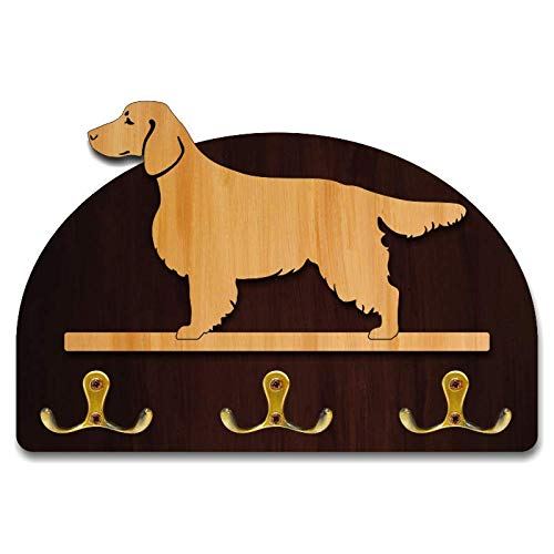 (Hanger/holder leashes with figurine Welsh Springer Spaniel, rack key of wood, handmade)