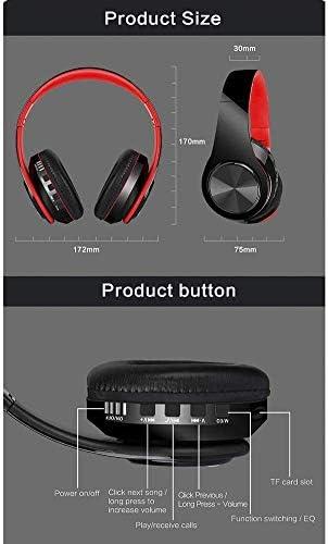 TYGYDLQ 内蔵マイクヘッドセットワイヤレスヘッドセット折りたたみ式のBluetoothヘッドセット、コンピュータヘッドフォン、イヤーマフ快適な、ノイズリダクションヘッドセットの動き、 (Color : B)
