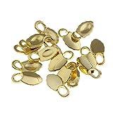 120 Oak Leaf Glue-On Earring Bails, Gold Plated, Wood, Tile, Glass