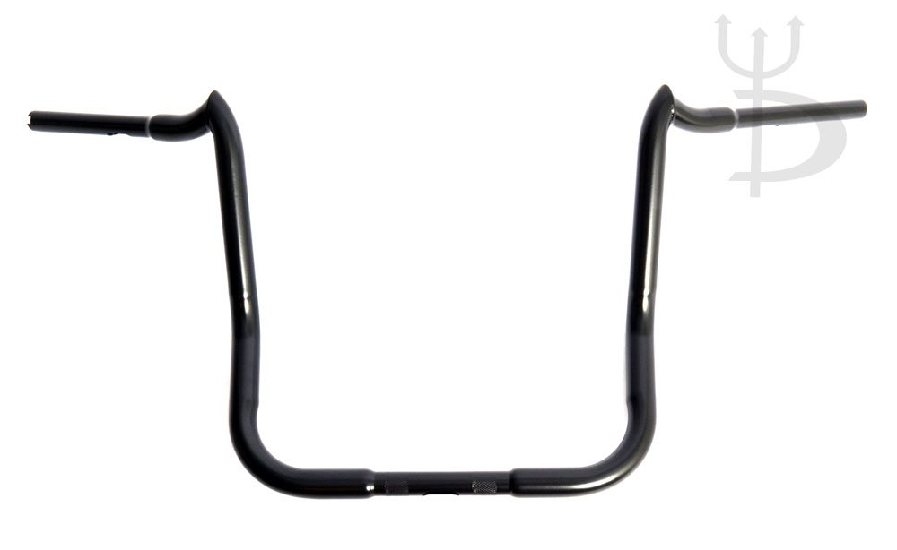 DEMONS CYCLE Mayhem Black 16'' Rise Ape Hangers 1-1/4'' Handlebars for Harley Dressers Baggers FLHT FLHTC by Demons Cycle (Image #1)