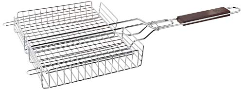 Outset QC71 Rosewood Chrome Grill Basket, Metallic