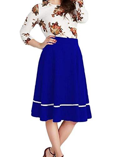 Tunic Size Stitching Blu Big Abiti Hem Womens Floral Basic Chyedas Plus Step nFxqX8YUOw
