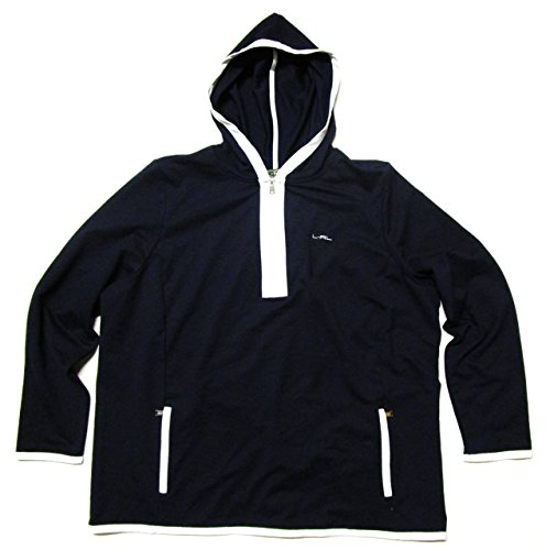 Lauren Active Ralph Lauren Woman Plus Size Athletic Light Pullover Sweatshirt (2X, Navy Blue / White)