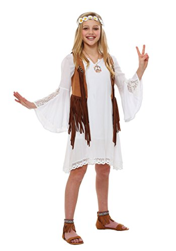 Girls Flower Child Costume Large (12-14)