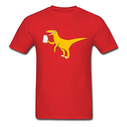 hygee-velociraptor-holding-a-poptart-soft-red-men-tee-shirt