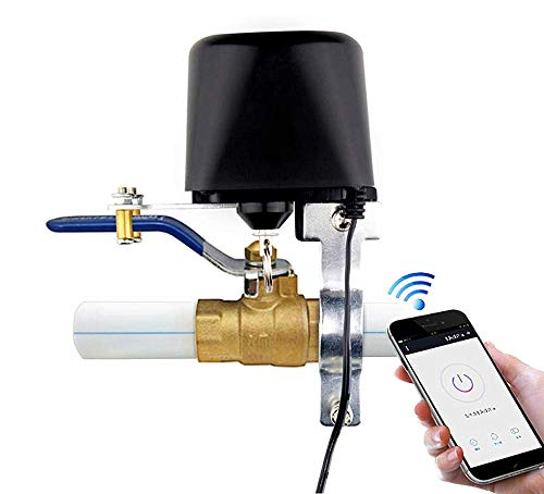 BOAZ Smart Wifi Water/Gas Valve, Wireless App remote Control Shut Off,Voice Control Amazon Alexa Echo Google Assistant,Timing for Garden Hose Automation on off